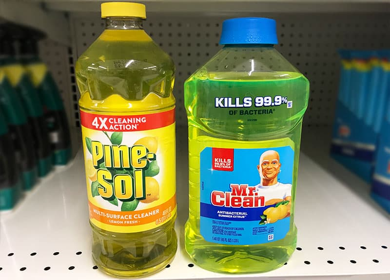 PIne-Sol versus Mr. Clean