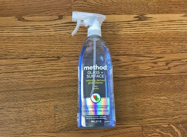 Removing Rejuvenate using glass cleaner