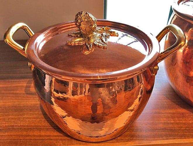 Ruffoni Historia Hammered Copper stock pot