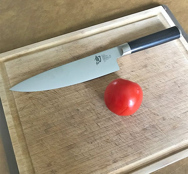 Shun kitchen knife performance