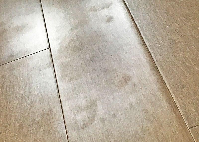 Smudges on floor due to Rejuvenate