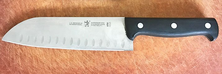 Stamped kitchen knives