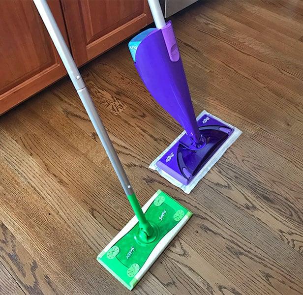 Swiffer Sweeper versus WetJet performance
