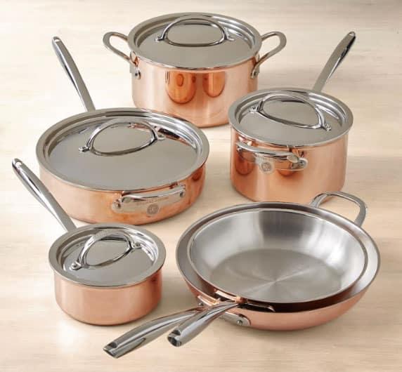 Williams Sonoma ThermoClad Copper Cookware
