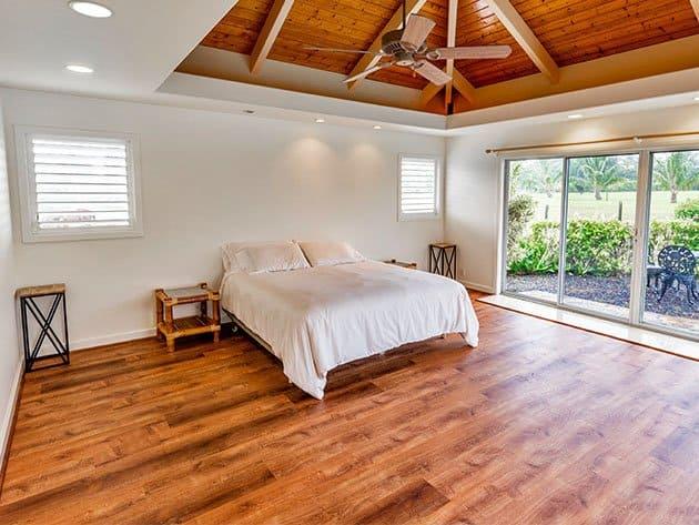 Wood floors with satin polyurethane