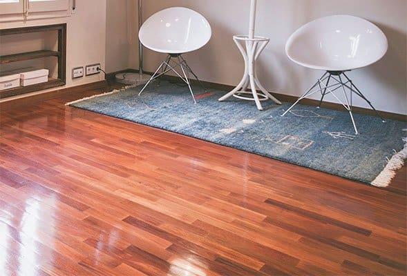 Wood floors with semi gloss polyurethane