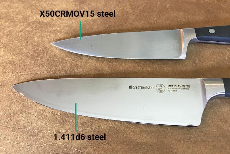 Wusthof versus Messermeister blade materials