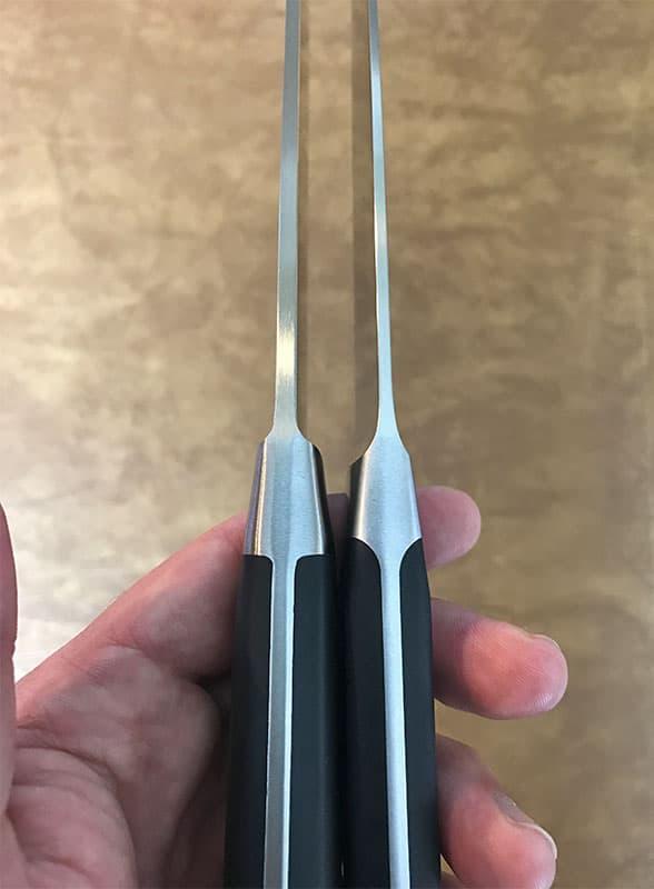 Wusthof versus Messermeister blade thickness