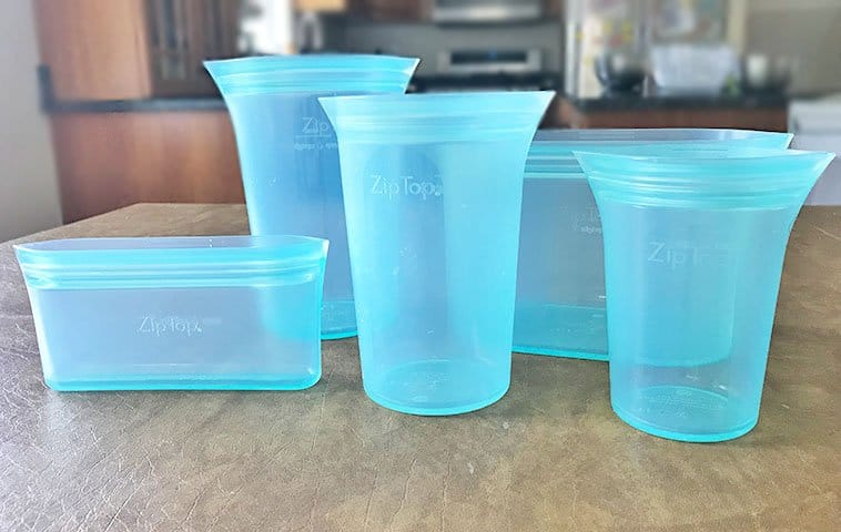 Zip Top reusable storage containers