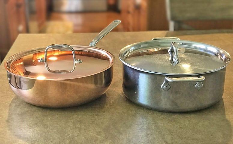 copper versus stainless steel cookware