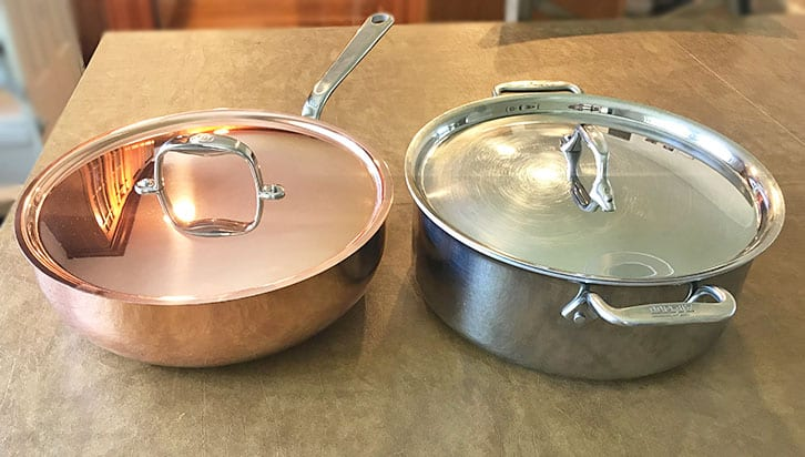 copper versus stainless steel cookware_appearance