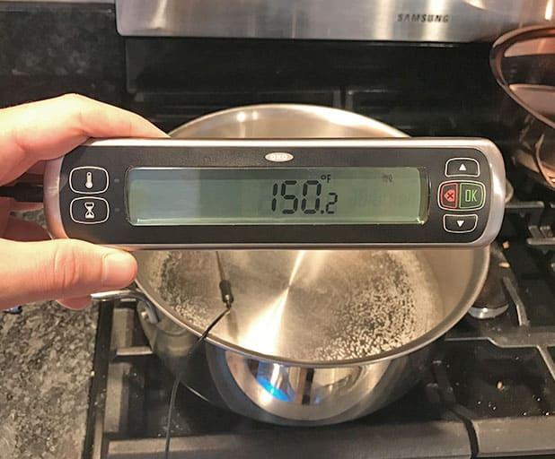 copper versus stainless steel cookware_responsiveness test