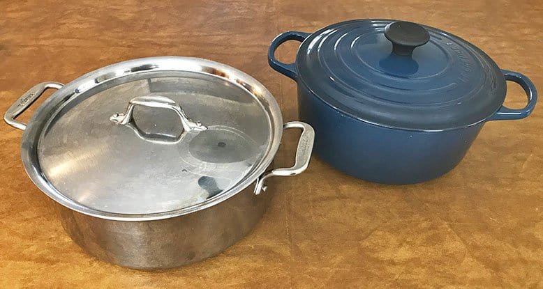 stock pot versus Dutch oven